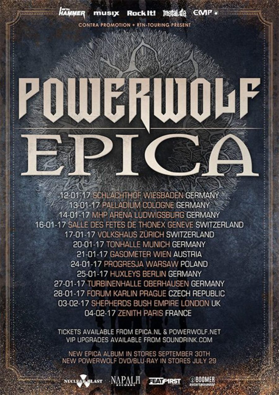Powerwolf & Epica Co-Headliner Tour 2017