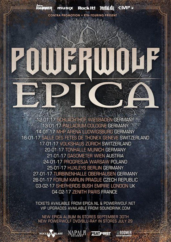 Powerwolf & Epica Co-Headliner Tour 2017
