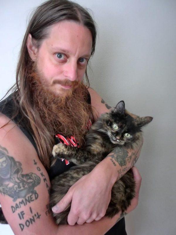 Fenriz mit Katze