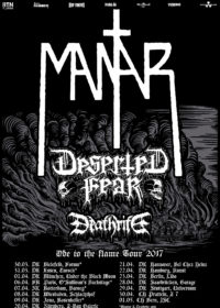 """MANTAR - """"Ode TO The Flame""""-Tour 2017"""