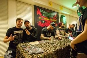Caliban Autogrammstunde auf dem Knockdown Festival 2016