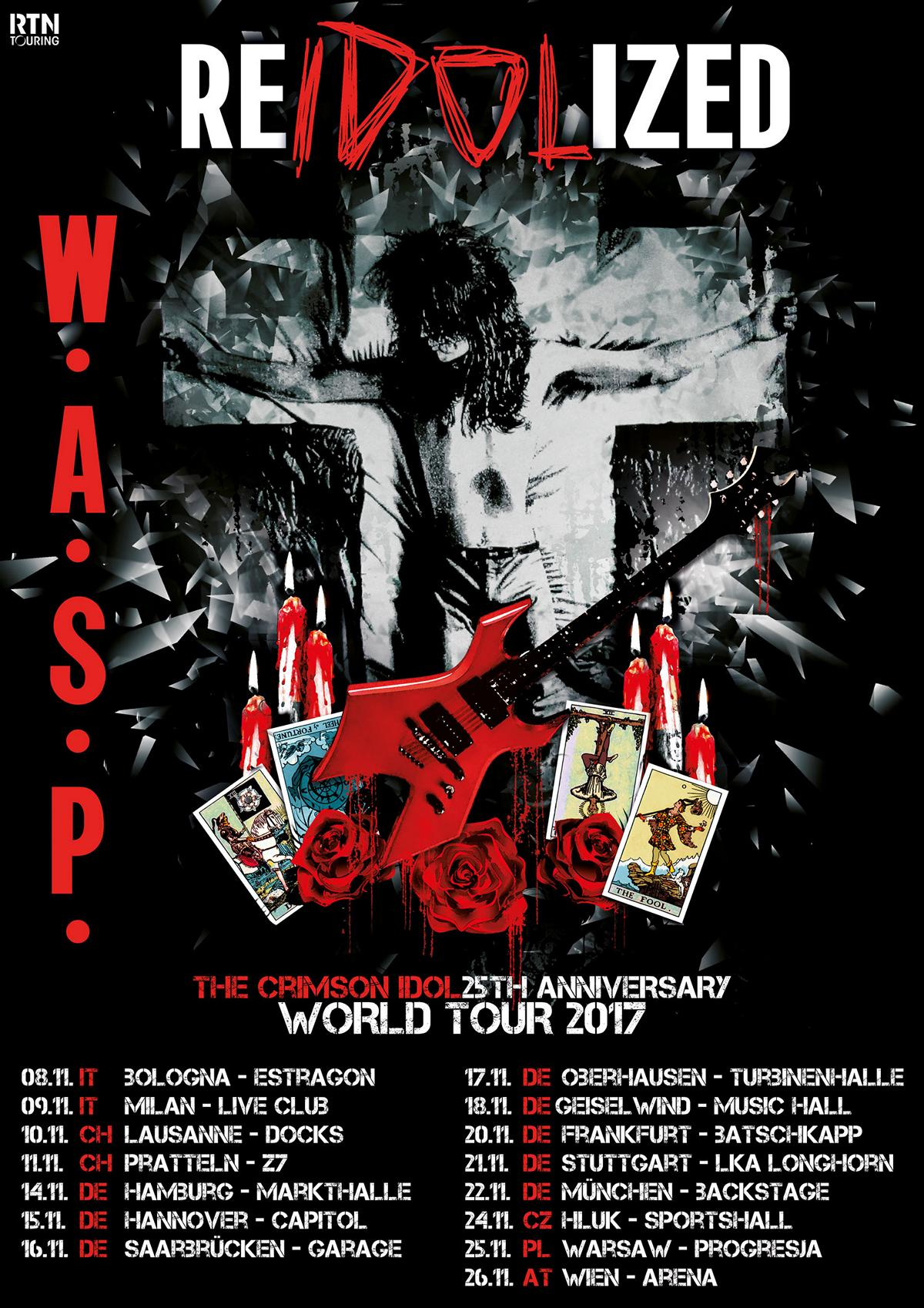 "W.A.S.P. - ""Re-Idolized""-Tourflyer"