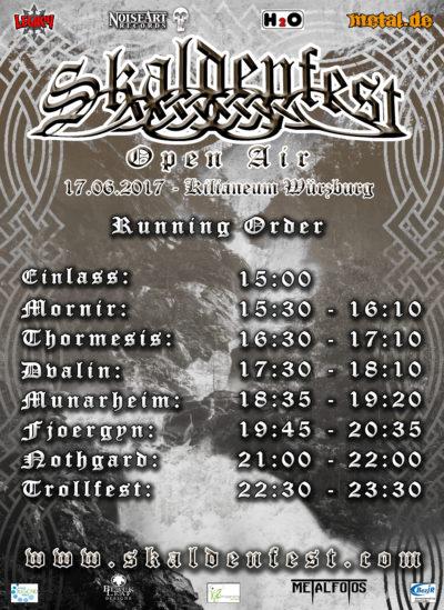 Running Order - Skaldenfest 2017
