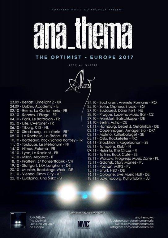 Anathema/ Alcest Live 2017
