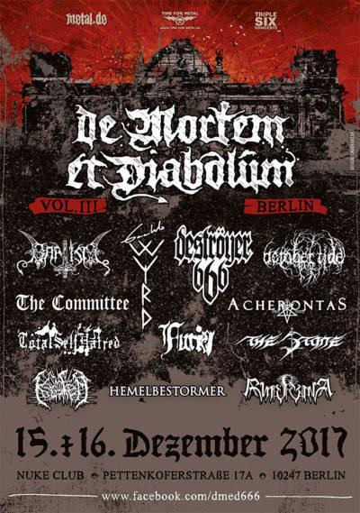 Bild De Mortem Et Diabolum 2017 Flyer
