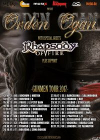 Tourplakat Orden Ogan Gunmen Tour 2017