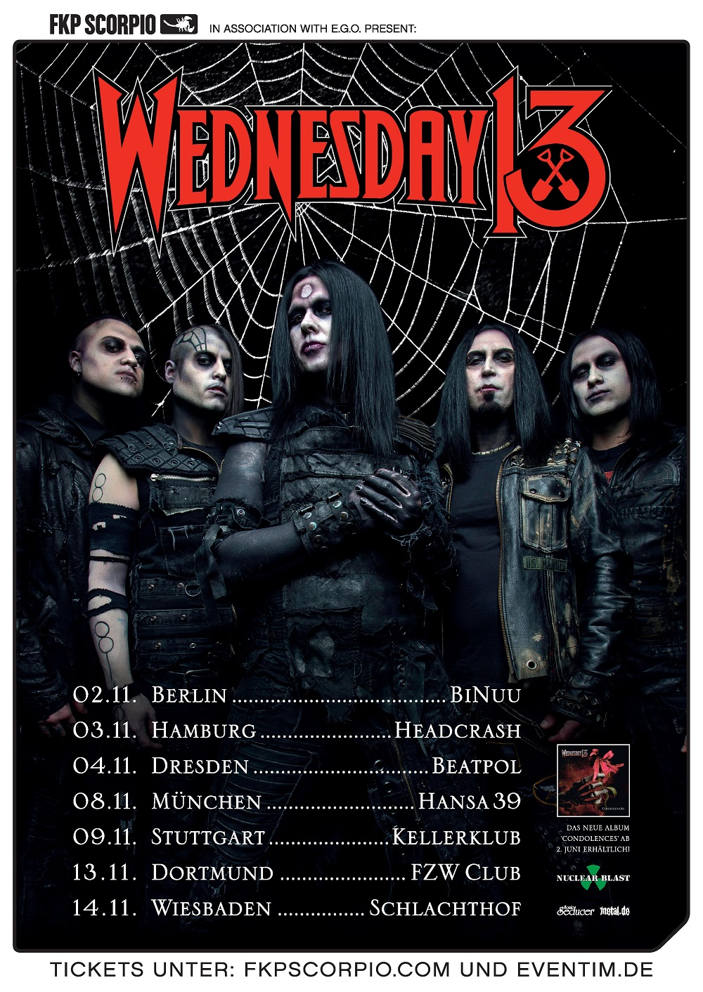 Bild Wednesday 13 Tourposter November 2017