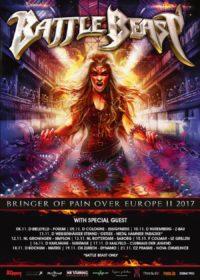 Bild Battle Beast Bringer Of Pain Over Europa II 2017 Tourposter