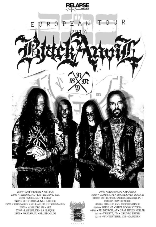Bild Black Anvil Europa-Tourposter 2017