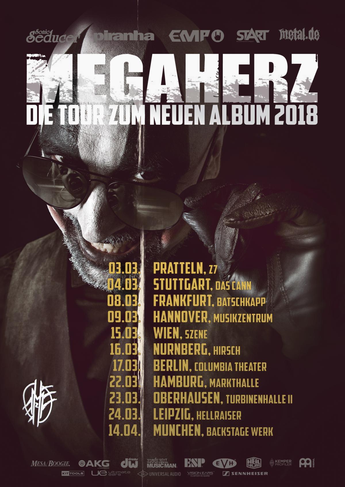 Tourposter von Megaherz - Die Tour zum neuen Album 2018