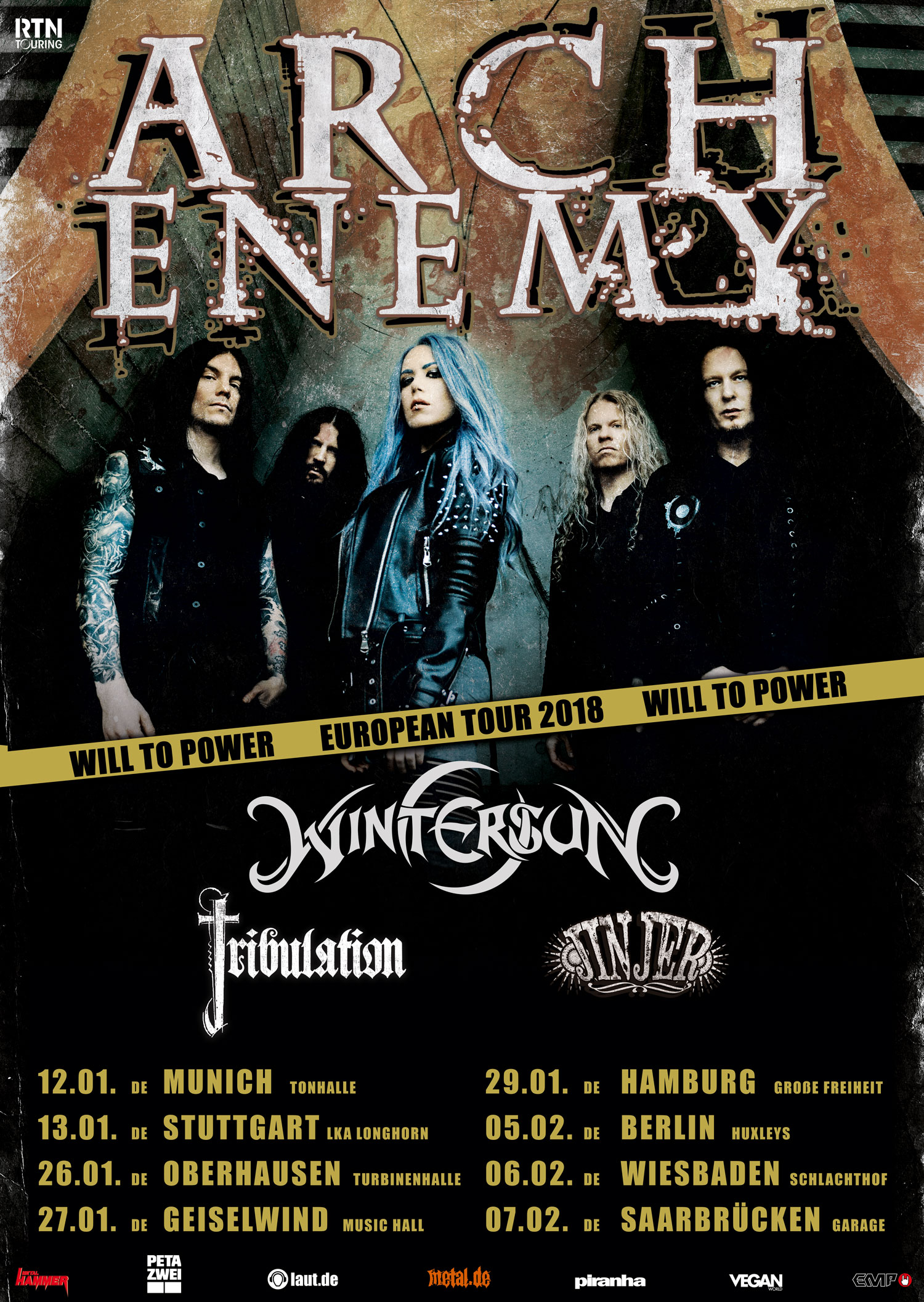 Bild Arch Enemy Tour Poster 2018