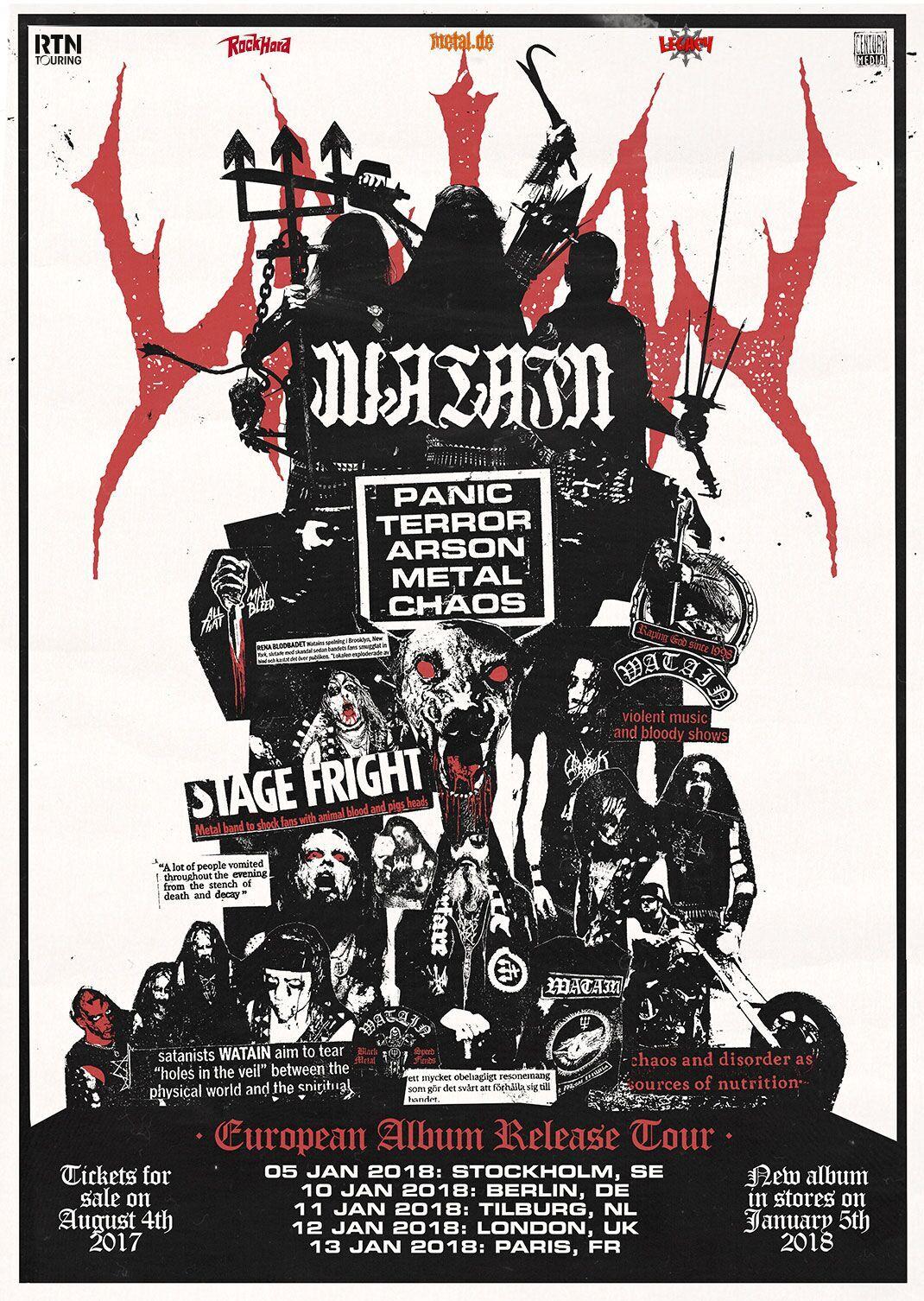 Bild Watain Album Release Show Poster