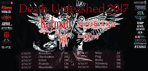 Death Unleashed Tour 2017 - Header
