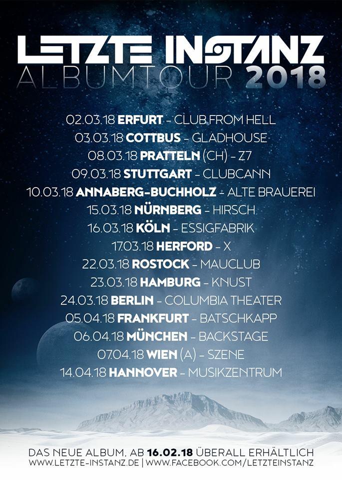 Letzte Instanz - Tourplakat 2018