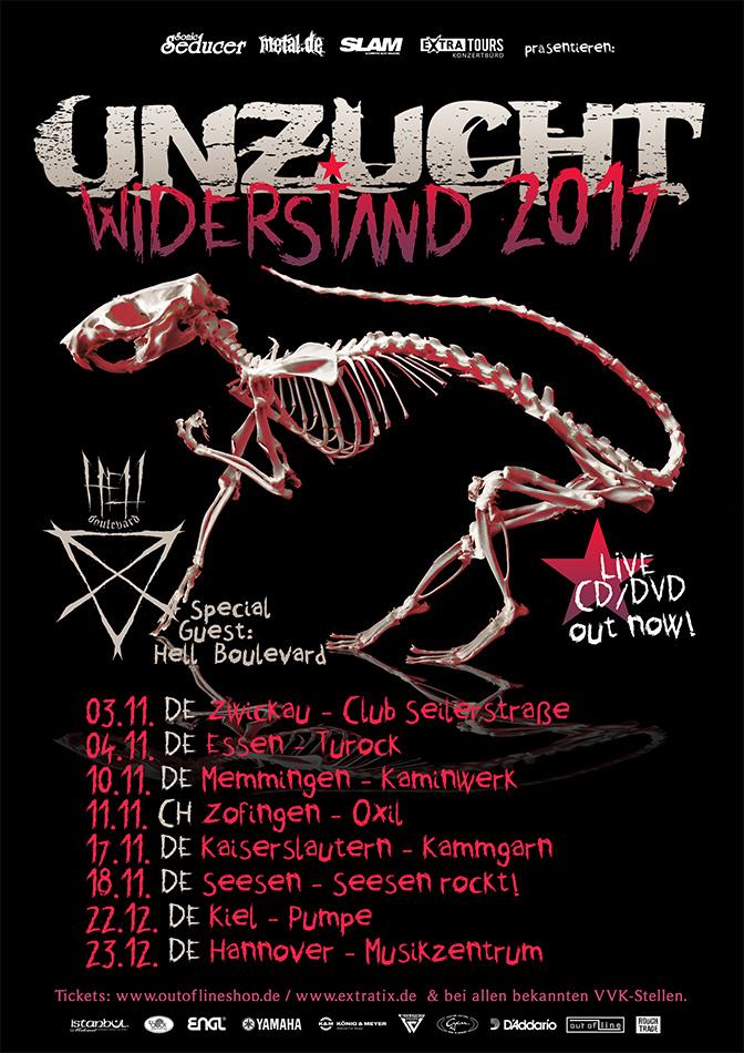 Unzucht Widerstand 2017 Tourposter