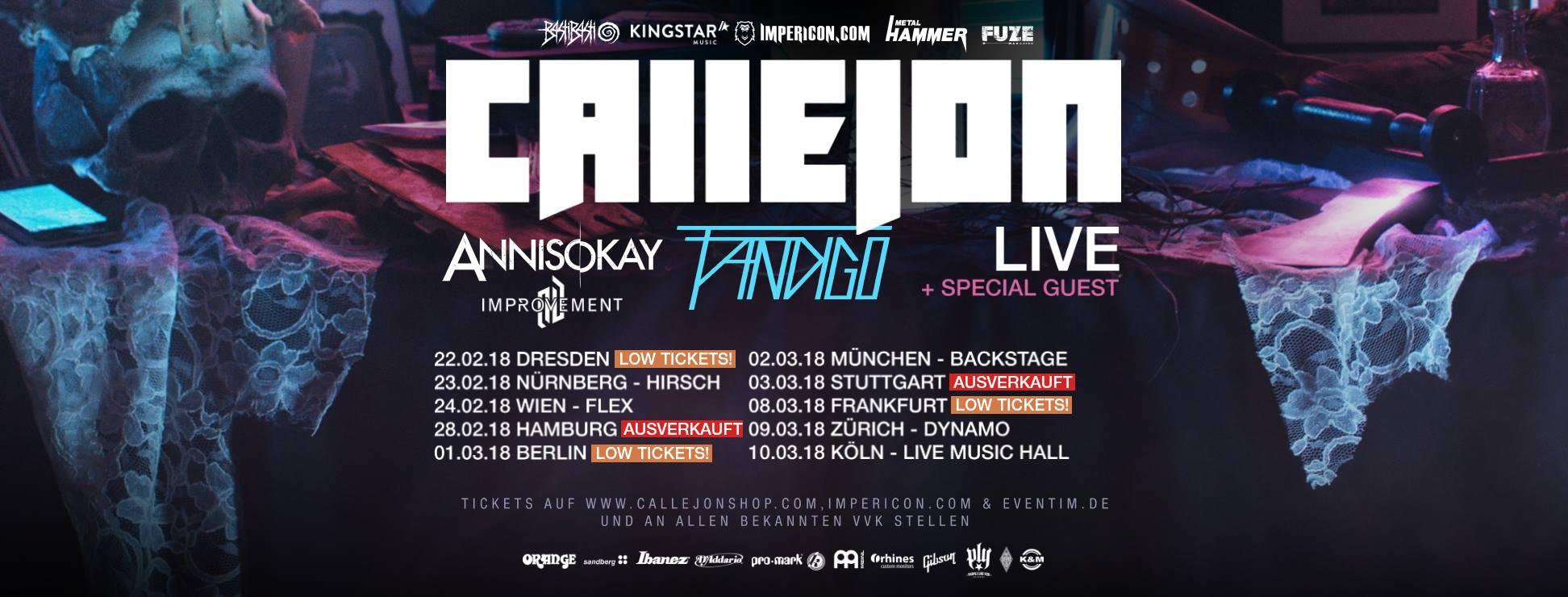 Tourplakat von Callejon 2018