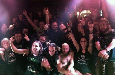 Bild CRIPPER zusammen mit Fans im Lemmy, Kaunas