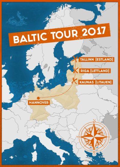 Bild Cripper Baltikum Tour 2017 Karte