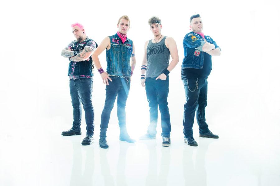 Promotionfoto der Band CatEaters 2017 - Fritz, Bernie, Andy, Marcel (v. l. n. r.)
