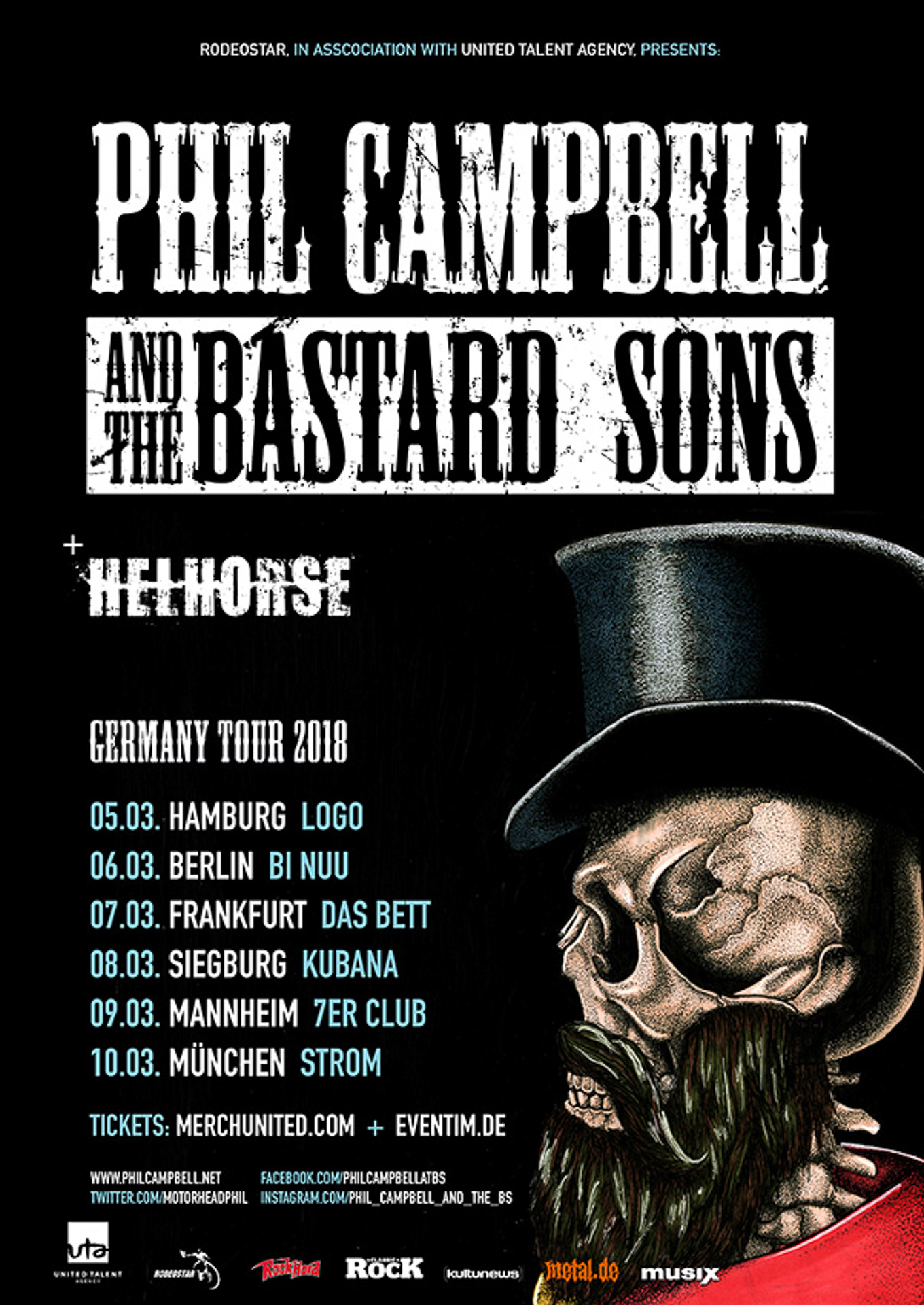 Phil Campbell And The Bastard Sons - Tour 2018