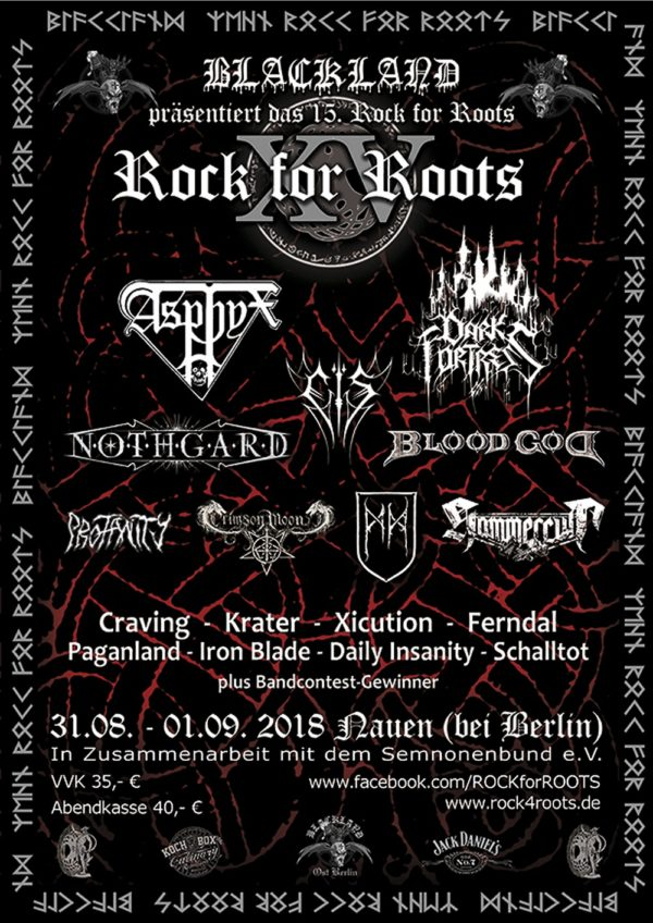 Rock For Roots 2018 Flyer