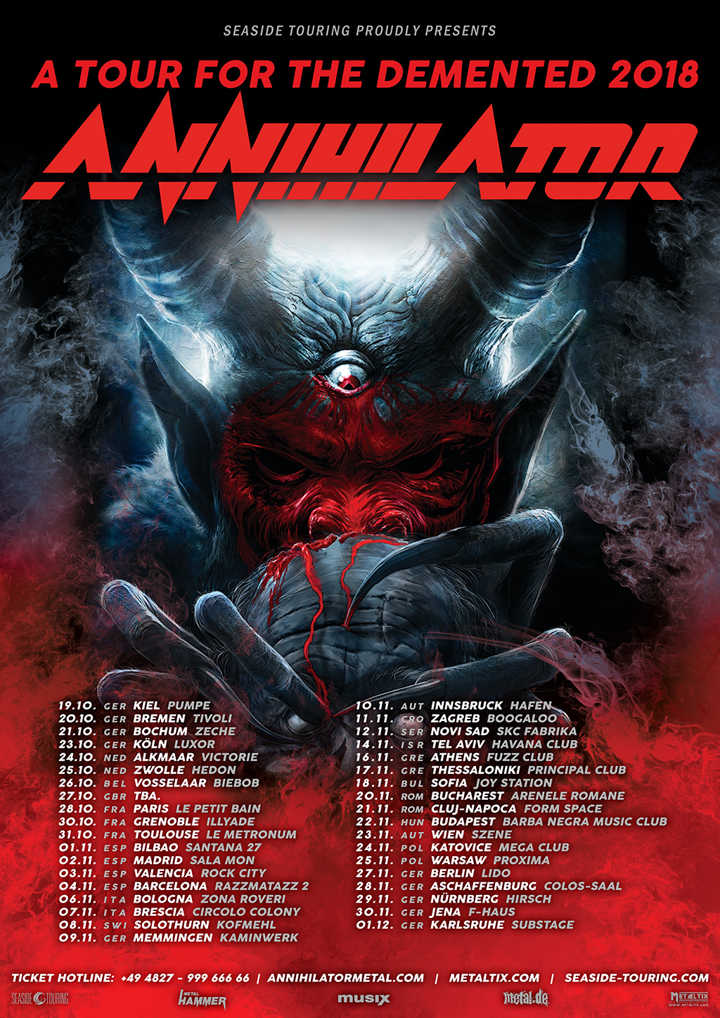 Annihilator -A Tour For The Demented 2018