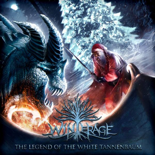 """Hier befindet sich das Cover von WINTERAGEs """"The Legend Of The White Tannenbaum""""."""
