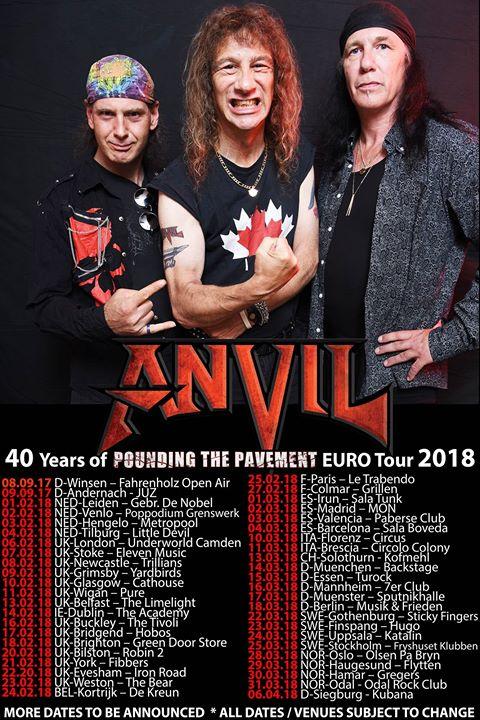 Tourplakat von Anvil 2017