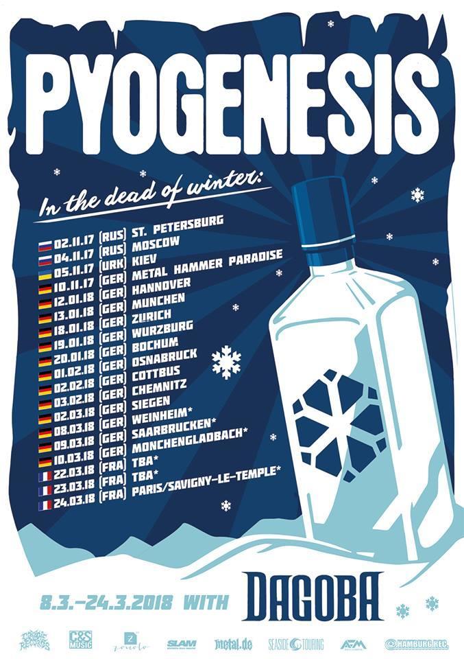 Tourplakat von Pyogenesis 2018