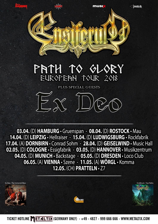 Ensiferum - Path To Glory Tour 2018 Poster
