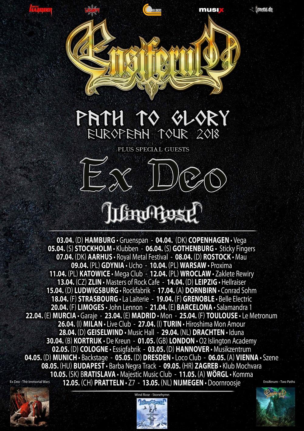 Bild Ensiferum Path To Glory Tour - Poster