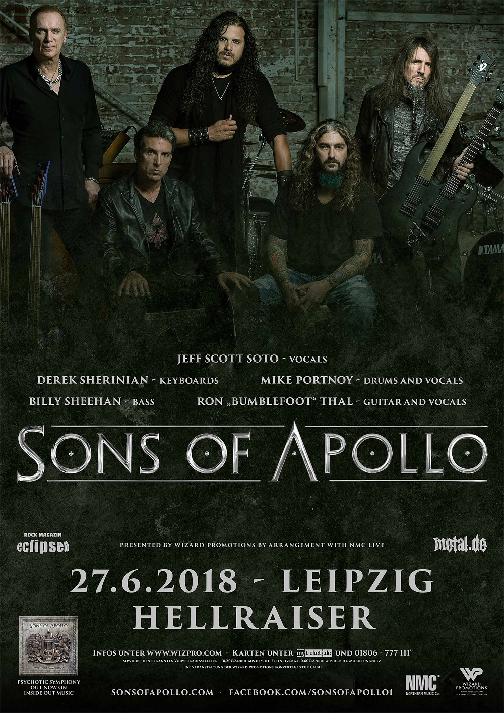 Sons Of Apollo - Konzert 2018 Poster