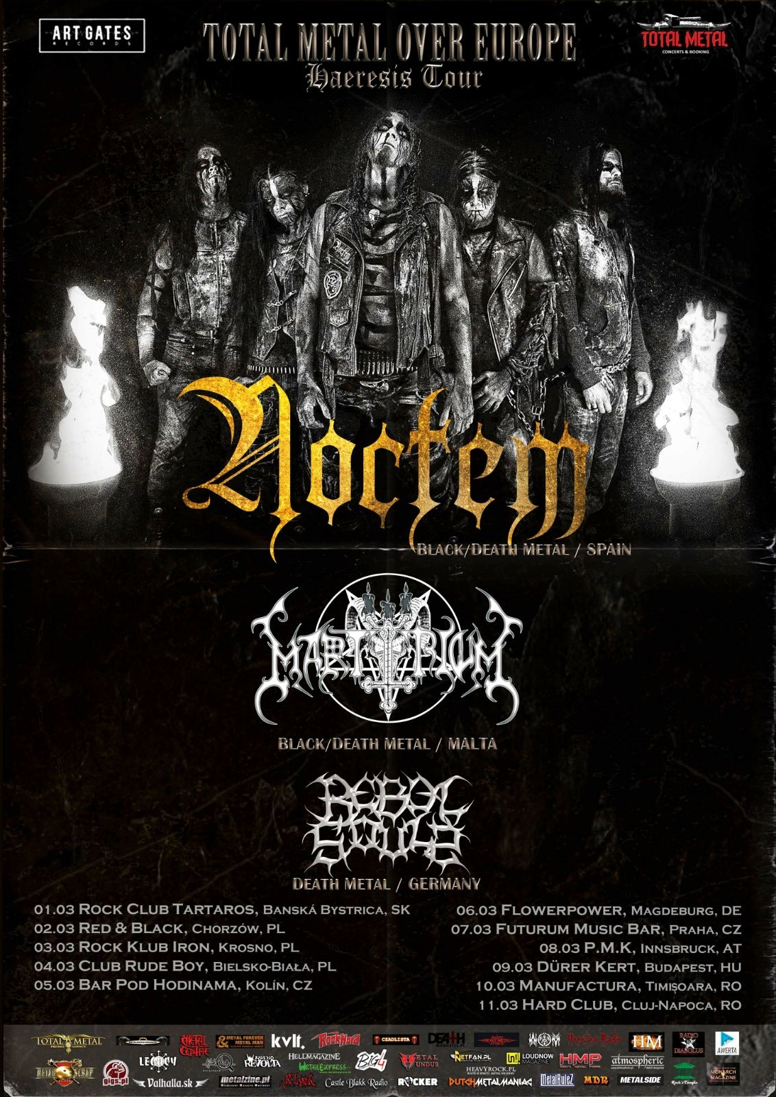 Bild Noctem Total Metal Over Europe Haeresis Tour 2018 Flyer