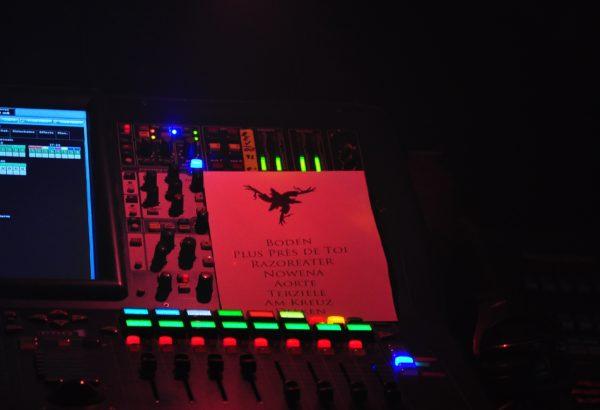 Setlist von AMENRA bei ihrem Konzert in Dresden 2018.