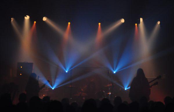 Die Band BORIS bei ihrem Konzert in Dresden 2018.