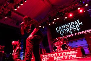 Konzertfoto von Cannibal Corpse auf der 70000 Tons Of Metal 2018