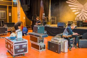Foto von Long Distance Calling beim Bühnenaufbau 2018 in Stuttgart